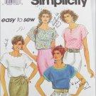 Simplicity 7768 misses blouses sizes L XL pattern