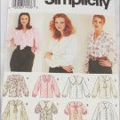 Simplicity 8620 misses blouses sizes 18 20 22 pattern