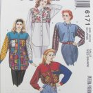 McCall 6171 misses loose fitting shirt size XL 22 24 pattern