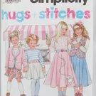 Simplicity 7401 child skirt top jacket vest sizes 3 4 5 6 7 8 pattern