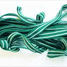 "Green & white striped polyester knit cording 1/2"" wide some stretch"