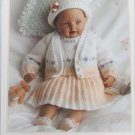 "King Cole Sunday Best Baby knit outfit pattern 13 15 or 17"" doll sizes"