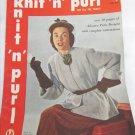 Knit 'n' purl vintage 1951 magazine fashions for men women children