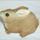 Stone Critter large rabbit UDC 1984 3.5 inches light brown