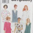 Simplicity 9046 misses nurses top vest sizes 16 18 20 22 pattern