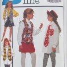 Butterick 6362 girls vest shirt skirt shorts leggings tie sizes 7 8 10