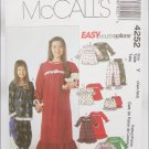 McCall 4252 girls nightgown tops pants bloomers sizes XS S 3 to 6