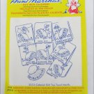 Aunt Martha 3553 colonial girl tea towel designs hot iron transfers sealed pack