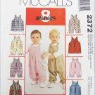 McCall 2372 Infant jumpsuit snap crotch S M L XL