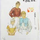 Kwik Sew 1434 boys shirt sizes 8 10 12 14 for knits woven fabric