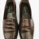 Ladies Cappagallo shoes size 7 1/2 M brown loafer slip on Leather Uppers