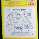 Aunt Martha 3854 hot iron Hearty Pigs transfers sealed package