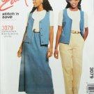 McCall 3079 misses vest pants skirt size 8-10 12-14 16-18 UNCUT