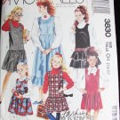 McCall 3830 girl's jumper with variations sizes 7 8 10