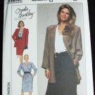Simplicity 9361 misses jiffy dress & jacket sizes 16 18 20 22 24 Christy Brinkley