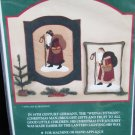 Old Santa patterns for applique on quilts or wall hanging Gift Bringer