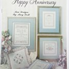 Leisure Arts 995 Happy Anniversary cross stitch samplers pillows more