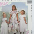 McCall 6392 girls party flower girl dress with petticoat size 10