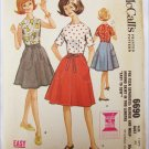 McCall 6690 teen wrap a round skirt and blouse size 14 PT B 33