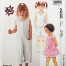 McCall 3655 girls dress jumpsuit romper size large 5 to 6