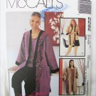 McCall 2292 misses jacket top pants sizes 20 22