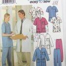 Simplicity 9334 nurses medical jacket top pants sizes L XL male female