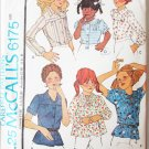 McCall 6175 child girl blouse size 6 breast 25 from 1978