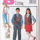 Butterick 3036 girl boy vest skirt pants size 12 14 pattern