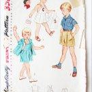 Simplicity 3909 boys playsuit shirt pants size 3 vintage 1952 pattern
