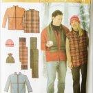 Simplicity 4803 men women jacket vest hat scarf sizes XL XXL XXXL