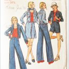 Butterick 3487 misses skirt jacket pants vintage 1970s  size 8 pattern