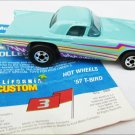 Ford 1957 T bird Hot Wheels McDonalds premium aqua never used