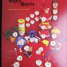 Happy Hearts 24 cross stitch designs for Valentine