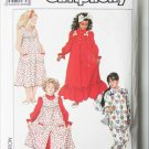 Simplicity 9427 girl's nightgown pinafore and pajamas sizes S M