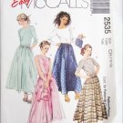 McCall 2535 girls tops skirt bag sizes 12 14 16 UNCUT pattern