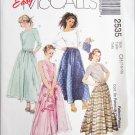 McCall 2535 girls tops skirt bag sizes 7 8 10 UNCUT pattern