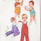 Simplicity 9044 toddler overall pattern size 1/2 breast 19 vintage 1970