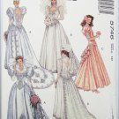 McCall 5746 misses wedding prom formal gown dress size 10 bust 32 1/2 pattern