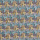 "Upholstery drape fabric geometric print teal tan gray 52"" wide"