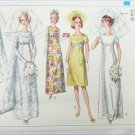 Simplicity 6352 bridal gown prom formal dress pattern size 13 breast 33