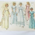 Simplicity 8589 misses bridal prom gown size 12 bust 34 vintage 1969 pattern