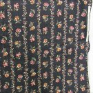 Peter Pan fabric dark brown orange gold flower print cotton 32 x 44 inches
