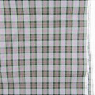 Plaid fabric gray black pink stripes vintage cotton 36 x 52 inches