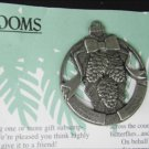 Birds & Blooms pine cone pewter ornament 2005 Christmas