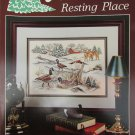Stoney Creek Nature's Resting Place cross stitch pattern leaflet 29 geese deer pond
