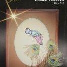 Golden Peacock cross stitch pattern Jeanne Christine design FM 012