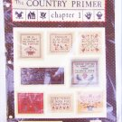 Country Primer Chapter 1 and 2 cross stitch designs Folk Heart samplers
