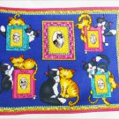 Quilt fabric top Memory Lane Meow Picture Quilt Daisy Kingdom panel Springs Industries