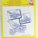 Aunt Martha hot iron transfers 3534 birds galore for embroidery sealed