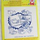 Aunt Martha hot iron transfers 3632 Fruits and Vegetables for embroidery sealed